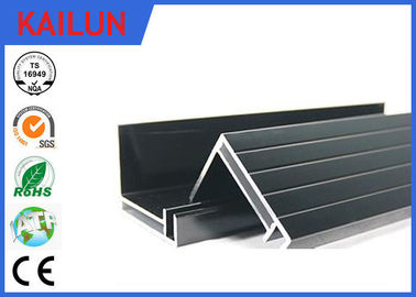 4 MM Glass 300 Watt Black Anodized Aluminum Panel Mounting Rails , Aluminum Extrusion Profile 50 X 35 Mm