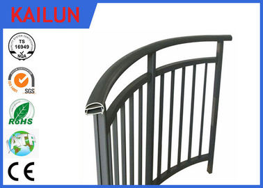 China Powder Coated Extrusion Aluminium Balustrade Profiles For Interior Stairway 85 Mm Width distributor