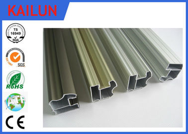 China 6063 Aluminum Sliding Door Frame , Hollow Silver Anodized Aluminum Structural Framing distributor