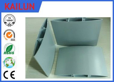 Anodized Aluminum Sun External Aluminium Louvres Blade With Oval Aerofoil  Shaped