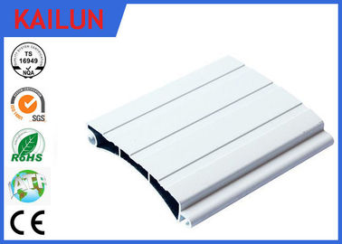 China 86.5 Mm Aluminum Door Profiles Rolling Shutter Parts Sound Insulation Weather Proof distributor