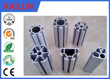 China 4040 Anodized T Shaped Aluminum Extrusions , T - Slotted Extruded Aluminum Rails distributor