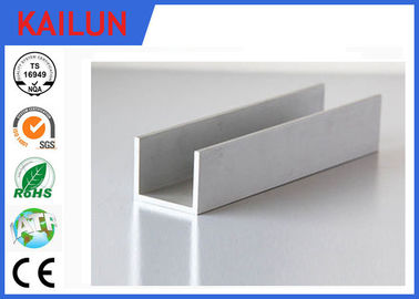 China Building Materials Aluminium C Channel Silver Anodised 35 MM Width 3.5 MM Thick distributor