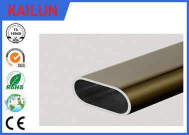 China 6061 Aluminum Oval Tubing , silver / Champagne Anodized Aluminum Structural Tube distributor