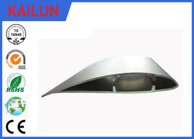 China Custom Aerofoil Silver Aluminium Fan Blades with Cutting , Drilling , Punching OEM Service distributor