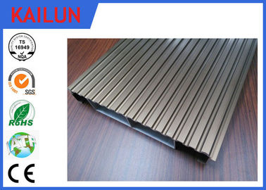 Interlocking Anodized Waterproof Aluminum Decking Boards Materials 6000 series Grade