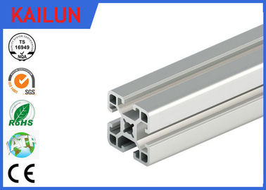 China Silver Anodized Square T Slot Aluminum Linear Rail For Coach Framing System 40 Mm Width distributor