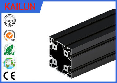 China 6063 T5 Black Anodized Aluminium T Section Extrusions 80 X 80 MM TS16949 / SGS distributor