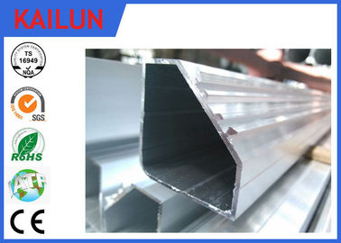 China Hollow Tube 5050 Aluminium Frame Profile With Silver Anodizing Surface Treatment distributor