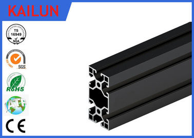 Black Anodised V - Slot Aluminum Extrusion Section for Assembly Line Profile 80 MM X 40 MM