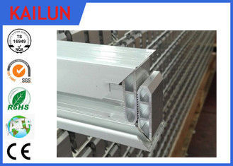 China Hollow Aluminium Solar Panel Frame , Self Crimped Extruded Aluminum Framing En 755 distributor