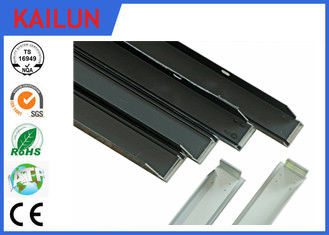 China Solar Frames Aluminum Extrusions , Silver Anodized Aluminium Solar Mounting Structure distributor